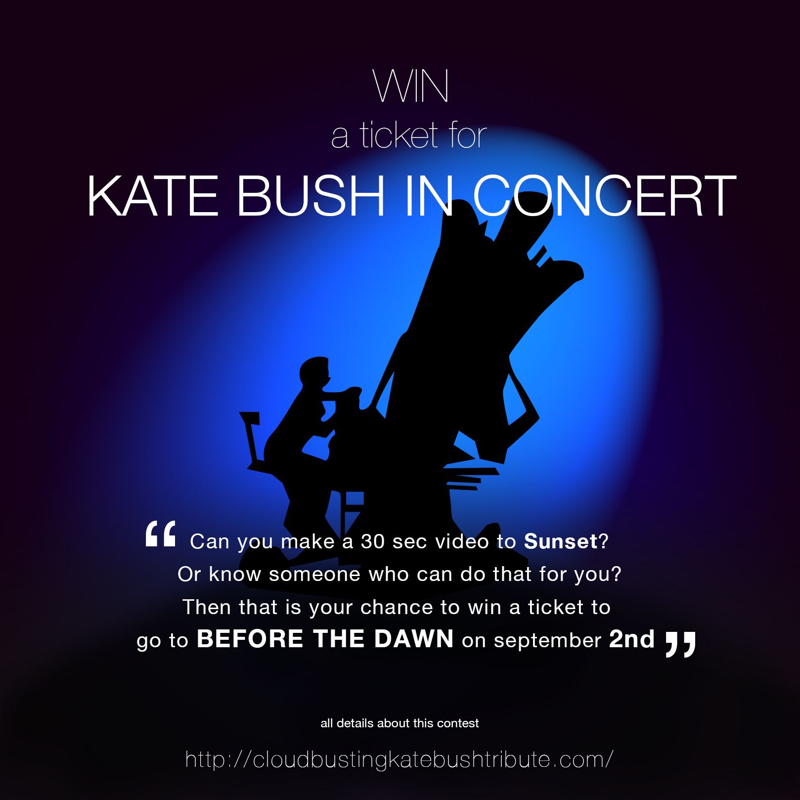Cloudbusting Contest - win a ticket to see Kate Bush